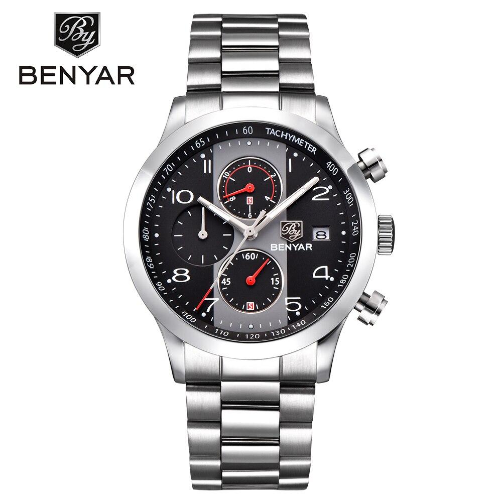 Quartz Wristwatch Chronograph Military Water-Resistant Sports Relogio Masculino