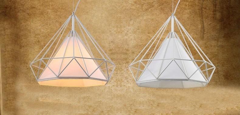 birdcage chandeliers Scandinavian modern minimalist art pyramid iron chandelier creative restaurant lights (4)