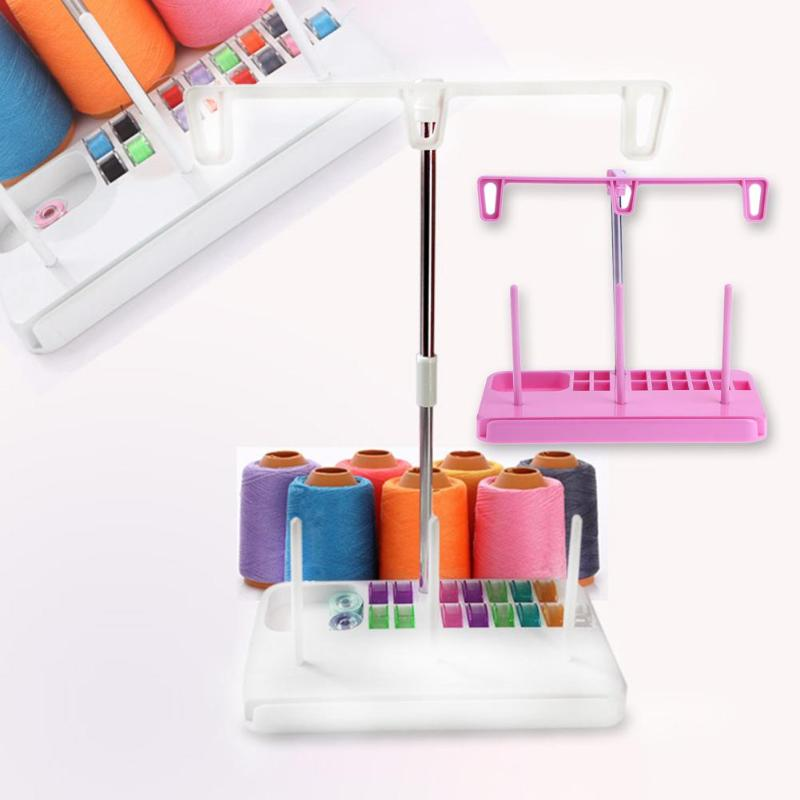 Sewing Machine Adjustable Embroidery 3 Thread Spools Holder Stand Rack OO