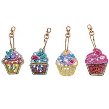Yfashion 4pcs DIY Key Link Diamond Painting Handmade Small Hanger Special-shaped Drill Ice Cream Series Set ice link dtp1nd ice link
