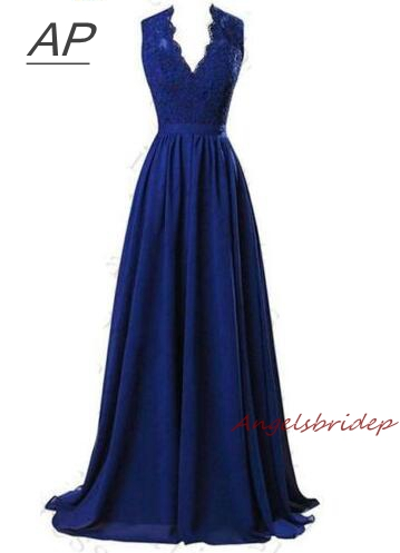 ANGELSBRIDEP Long Bridesmaid Dresses Robe Demoiselle D'honneur Sexy V Neck Applique Sash Floor Length Formal Party Gown Hot-in Bridesmaid Dresses from Weddings & Events    1