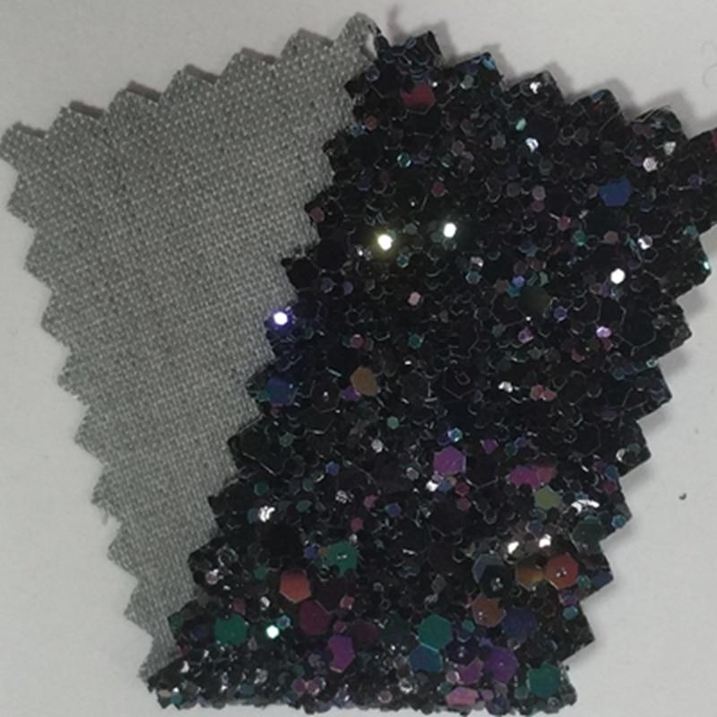 Diamond Black Chunky Glitter Wallpaper 20 Meters Roll With 138cm