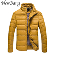 2016 Fashion Duck Down Jacket Men Winter Coats Outside Jackets Outdoors Parkas Plus Size Yellow Black Blue Jackets