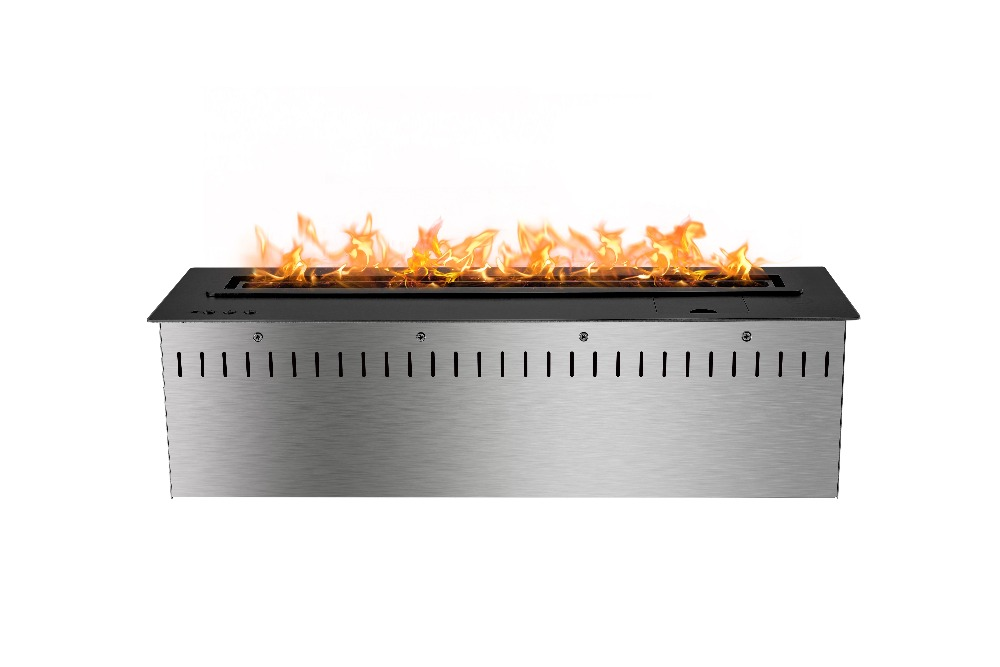 24 inch intelligent smart black or silver bioethanol master flame electric fireplace