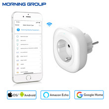 2018 New Mini Wifi Smart Socket EU Power Plug Mobile APP Remote Control Energy Monitor Works with Amazon Alexa Google Home(China)
