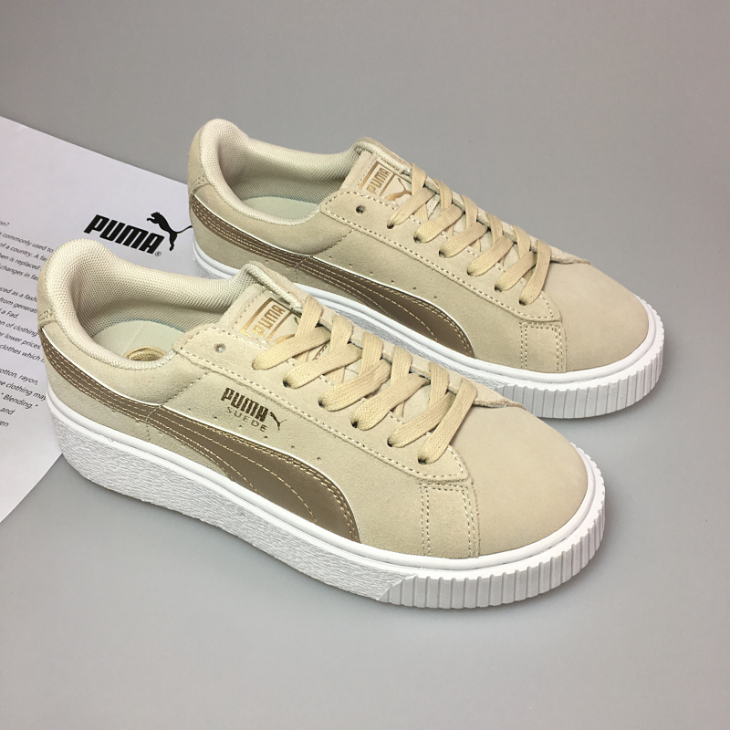 Genuine PUMA x FENTY Suede Cleated Creeper Mens Womens Second Generation Rihanna Classic Basket Tone Simple Badminton Shoes