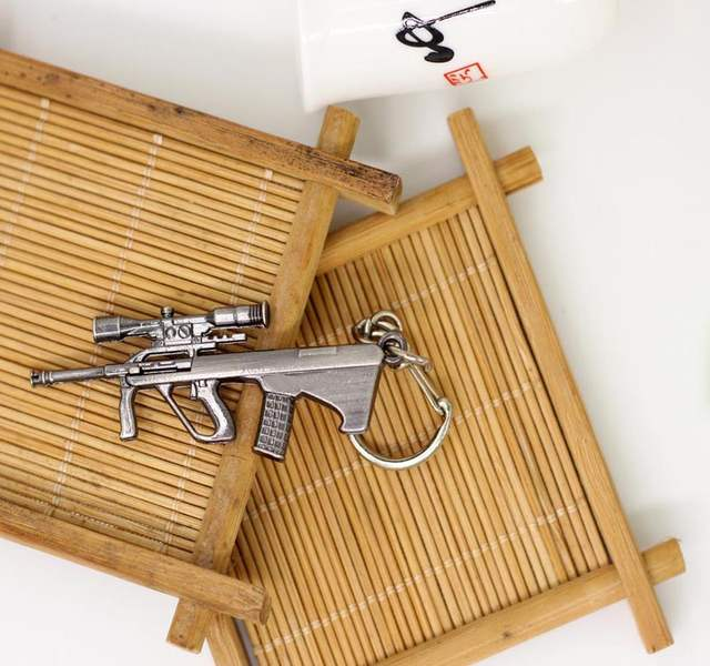 US $1 55 |Domineering Accessories Men domineering Game Earrings World Of  Tanks Steyr AUG A1 Sniper Weapon Keychain-in Key Chains from Jewelry &