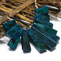 Fashion blue green chrysocolla stone jasper 11 pieces stick vintage pendant set women jewelry making B1556