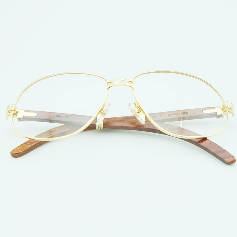 Gold Clear Glasses Frames Computer Eye Glasses Frame for Men Carter Mens Transparent Glasses Optical Eyewear Fraems