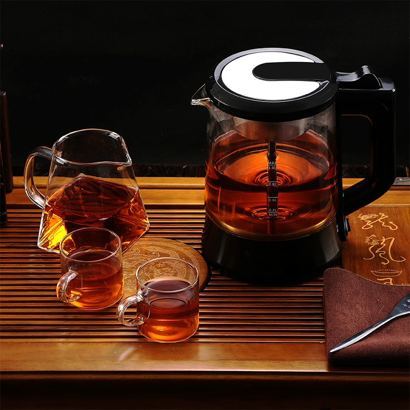 Electric kettle teapot automatic glass electric hot steam cooking tea pot black brewing automatic kettle electric brewing tea stainless steel teapot