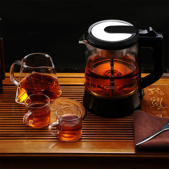 Electric kettle teapot automatic glass electric hot steam cooking tea pot black brewing