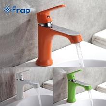 Frap инновационных моды Стиль дома многоцветные Ванны смеситель холодной и горячей водой краны зеленый оранжевый белый F1031 F1032 F1033