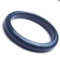 Натуральный темно синий украшения из лазурита камень леди очаровательный браслет внутренний диаметр 57 мм