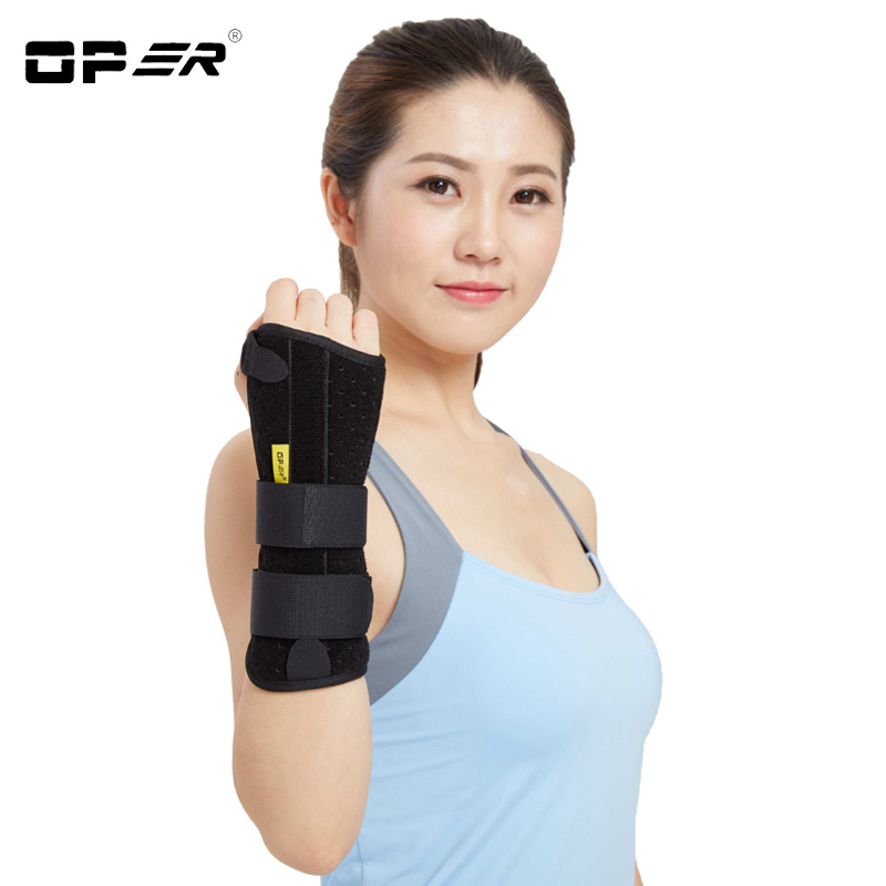 OPER Medical Wrist Brace Support Splint For Sprain Carpal Tunnel Syndrome Arthritis Recovery Wrist fracture fixation splint WO15 sport cotton wrist brace wrap support black