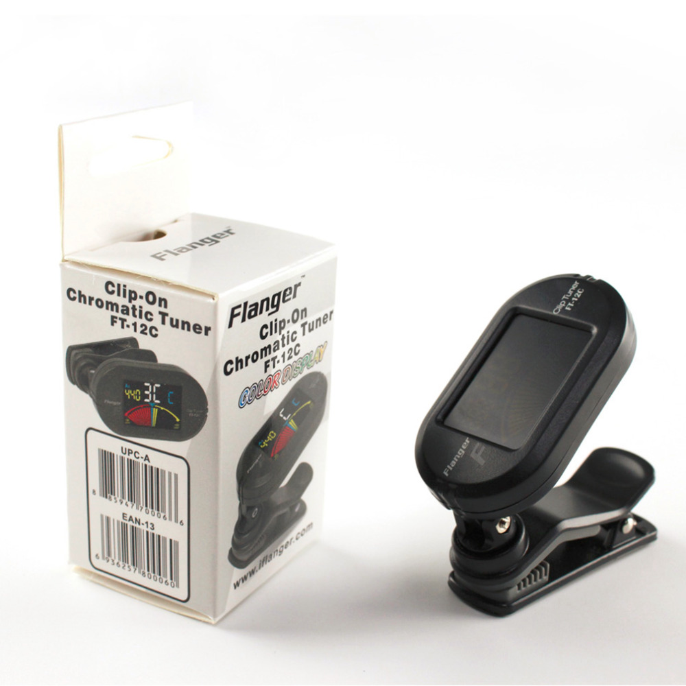 Top Color Screen Guitar Tuner Digital Tuner With Clip On Design For Guitar FT-12C drop shipping