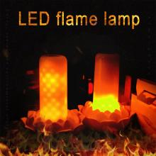 LED Flame Lamp 102pcs 2835 Remote Control Lights Effect Fire Light Bulb 0.5W Flickering Decor 2 Modes