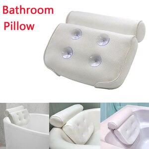 3D сетчатая Нескользящая подушка для спа-ванны, спа-подушка для ванны, подушка для отдыха на голове с присосками для шеи и спины, принадлежности для ванной комнаты