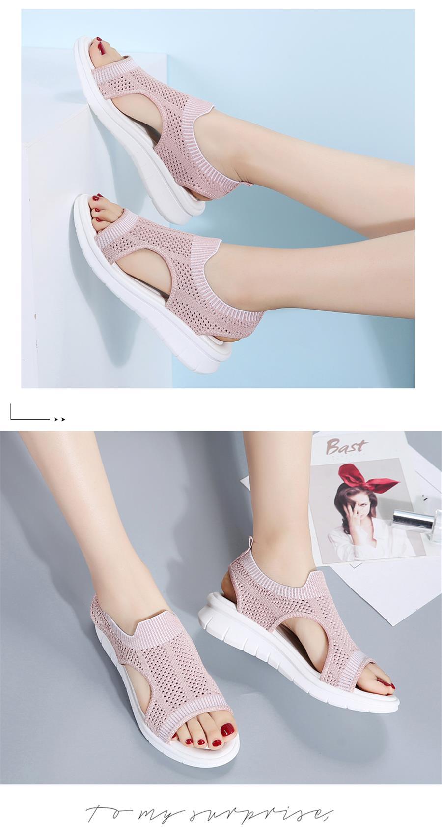 HTB13lljRXzqK1RjSZFvq6AB7VXaW STQ Women sandals 2019 female shoes women summer wedge comfort sandals ladies flat slingback flat sandals women sandalias 7739