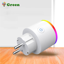 Smart plug Wifi Socket with switch Phone APP Voice Remote Control Home Automation Timer Switch Wall Plug with RGB LED Light цена