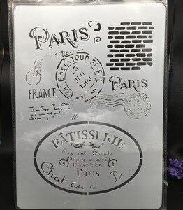 29*21 см A4 Парижская настенная печать, сделай сам, многослойные трафареты, раскраска для скрапбукинга, тиснение, декоративная открытка для аль...