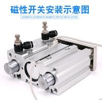 air Cylinder MGPM25 200Z MGPM25 250Z Thin cylinder with rod Three axis three bar Pneumatic components MGPL25 200Z MGPL25 250Z