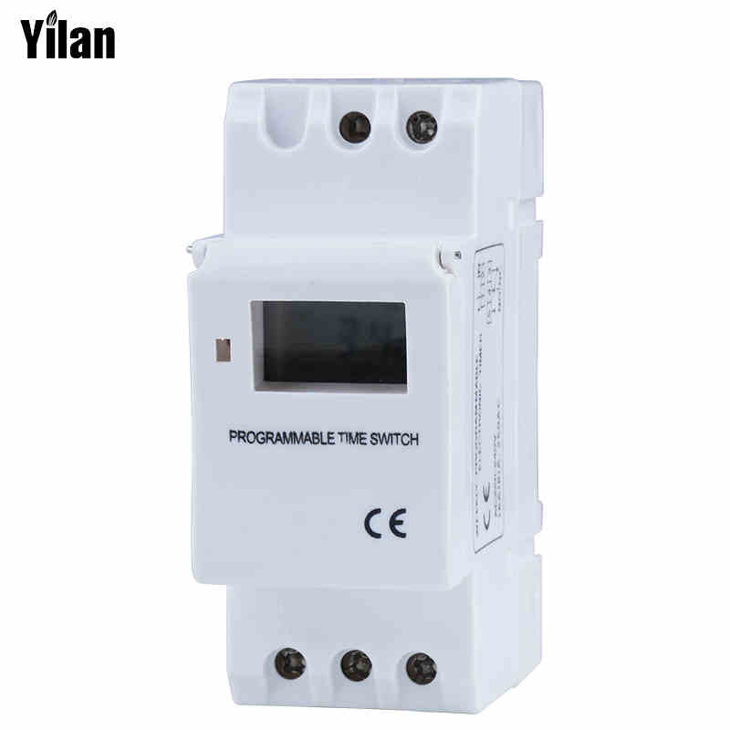 LCD Digital TIMER SWITCH ZB18B THC15A ZYT15 PROGRAMMABLE Timer TIME RELAY Microcomputer Electronic TIMER SWITCH chint nkg3 nkg 3 lcd microcomputer astro time switch sunrise sunset based on latitude din rail digital programmable timer relay