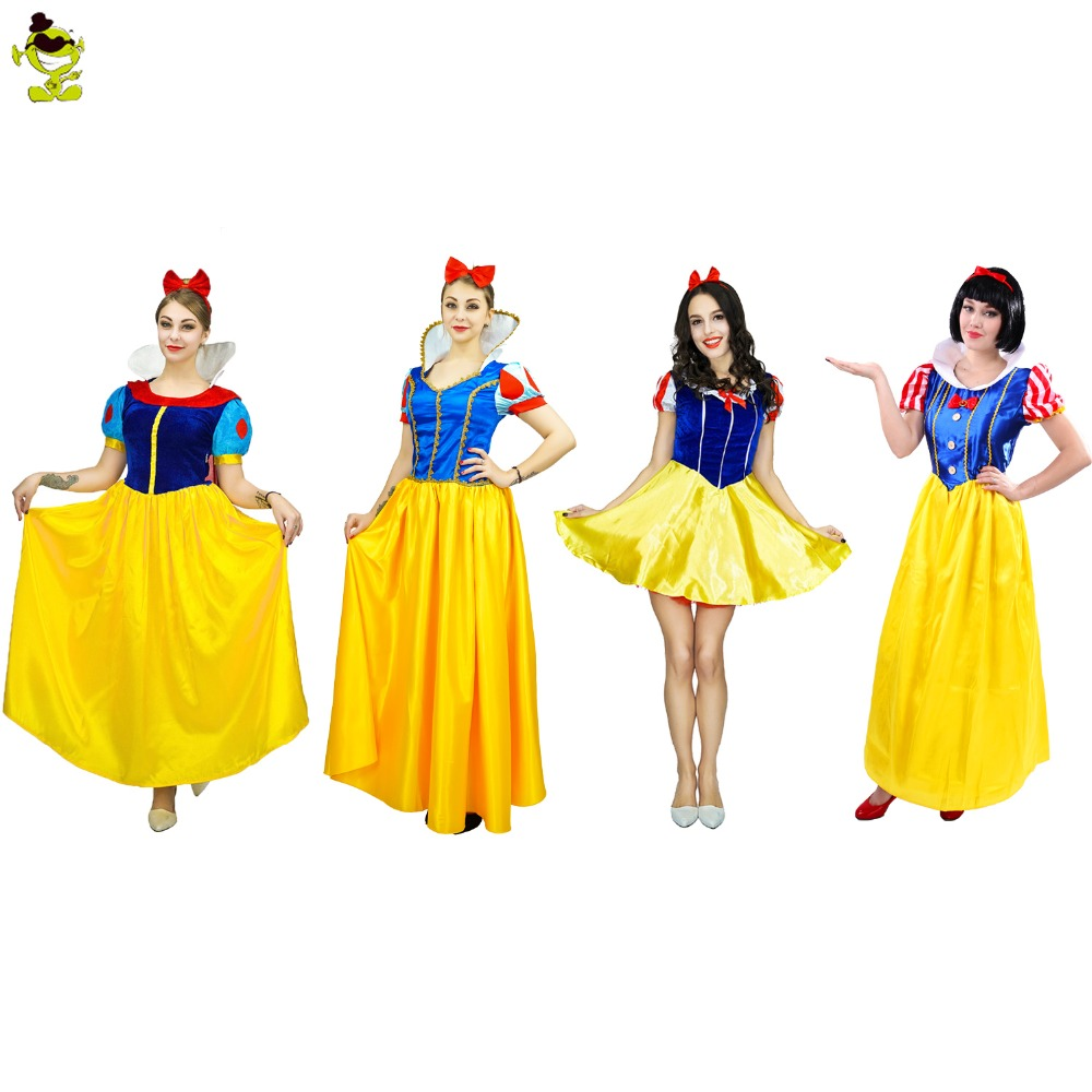 Adult Snow White Princess Costume Sexy Lady's Christmas Party Cosplay Fancy Dress Outfit Costumes child performance wear female child white princess dress cosplay costume fancy dress party