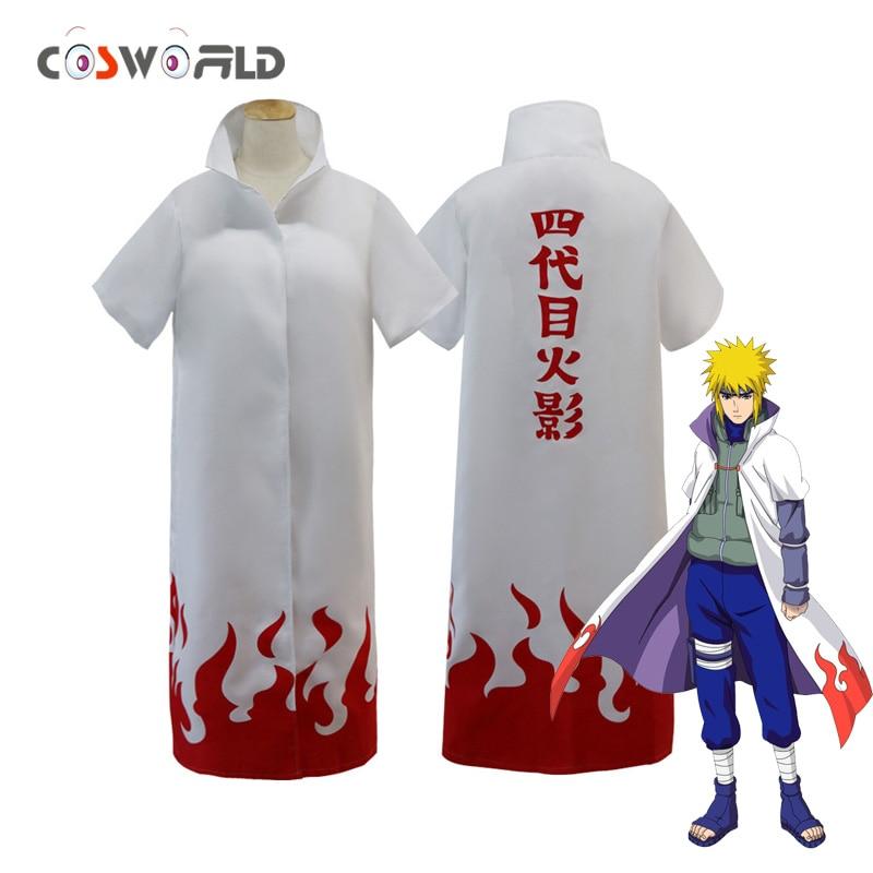 Coshome Naruto Cloaks Cosplay Costumes Fourth Hokage