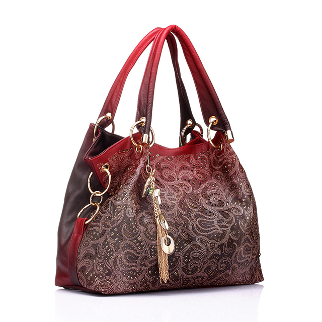 Luxury Floral Print Shoulder Bag