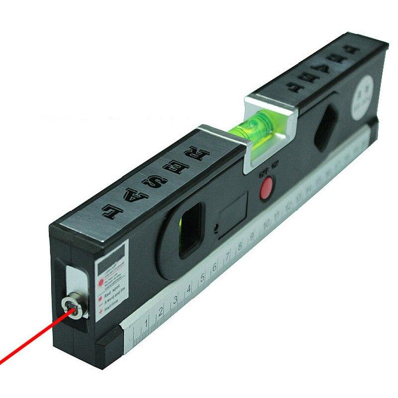 4 en 1 blister Niveles de láser horizonte vertical medición magnética Cintas alineador láser marcado líneas herramienta de regla