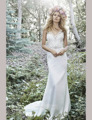 2015 Sexy Sleeveless Appliqued See Through Back Bohemian Style Vintage Wedding Dress