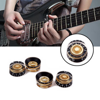 цена на 4Pcs Guitar Volume Control Knobs Speed Volume Tone Control Knobs For Gibson Les Paul Electric Guitar Portable Tools