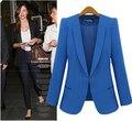 Mulheres jaqueta de forma magro outerwear terno cor de doces em um botão casaco 5 cores em tamanho real s m l xl Boa qualidade