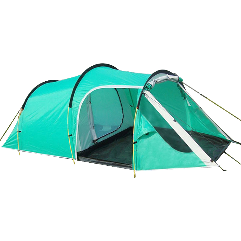 Outdoor Hiking Camping Tent 3-4 Person Tunnel Tents Double Layers Waterproof Camping Tent duckdog 70035