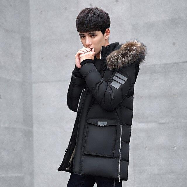 Толстые Теплые Мужчины Зимнее Пальто 2016 Горячей Моды для Мужчин Куртка Одежда Высокого Качества Плюс Размер 4 цвет