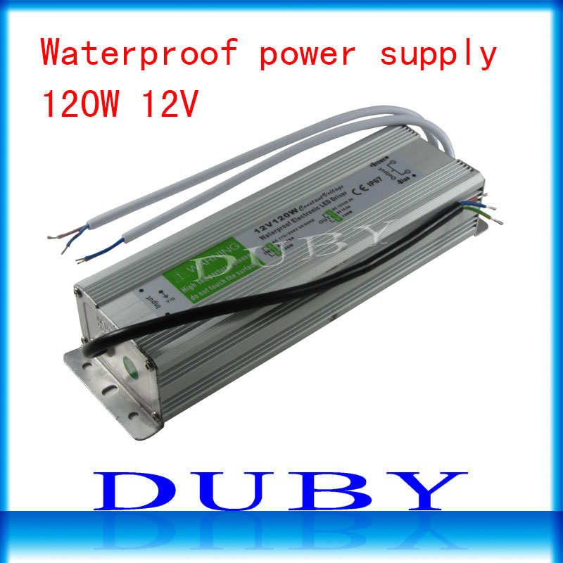 10piece/lot IP67 12V 10A 120W AC100-240V Input Electronic Waterproof Led Power Supply/ Led Adapter 12V 120W free fedex ip67 12v 5a waterproof electronic led power supply silver 100 240v