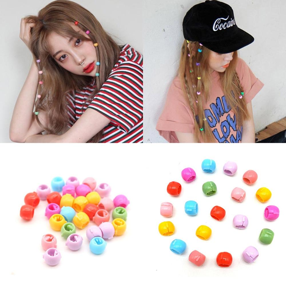 20 PCS Mini Hair Claw Clips For Women Girls Cute Candy Colors Plastic Hairpins Hair Braids Maker Beads   Headwear   Hair Accessories