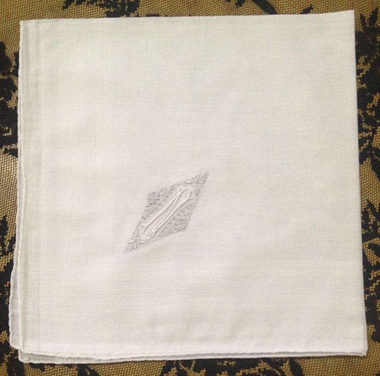 Fashion Men's Monogrammed Handkerchiefs 7 Pieces/Lot 17x17