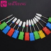 MAOHANG керамический, твердосплавный сверло для ногтей, Электрический Маникюрный сверлильный станок, аксессуары, Фрезерный резак, пилочка для ногтей, инструменты для дизайна ногтей