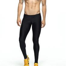 Мужские Леггинсы для тренировок черные обтягивающие спортивные