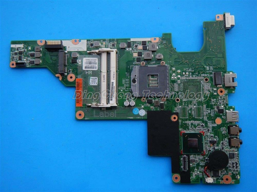 Подробнее о For hp compaq CQ43 CQ57 646177-001 Original laptop Motherboard for intel cpu with HM65 GMA HD DDR3 integrated graphics card free shipping 448434 001 la 3491p laptop motherboard for hp 530 intel i945gm integrated gma 950 ddr2 100