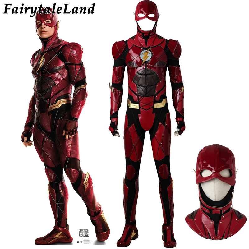 justice league flash cosplay costume halloween superhero costumes custom made flash jumpsuit barry allen costume in movie tv costumes from novelty