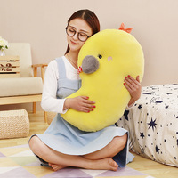 2017 New Coming 1PC 42 65Cm High Quality Yellow Chick Plush Toy Creative Cartoon Chicken Doll