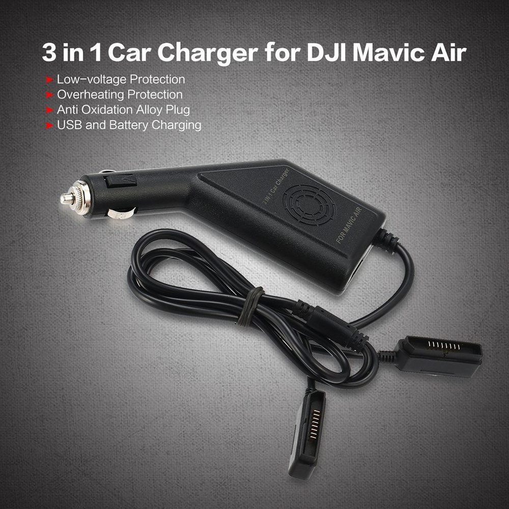 3 in 1 Fast Intelligent Battery Car Charger Safety for DJI Phantom 3 RC Drone NK