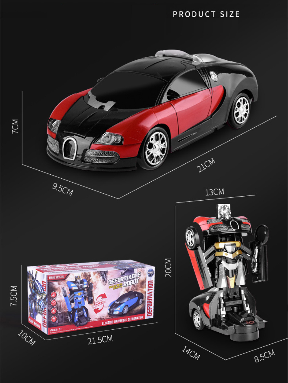 Electronic Transformer Robot Toy Car 13