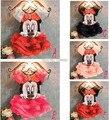 Fantasia minnie dress meninas novo 2015 summer dress para crianças fantasia crianças disfraz infantiles cosplay mini traje do rato