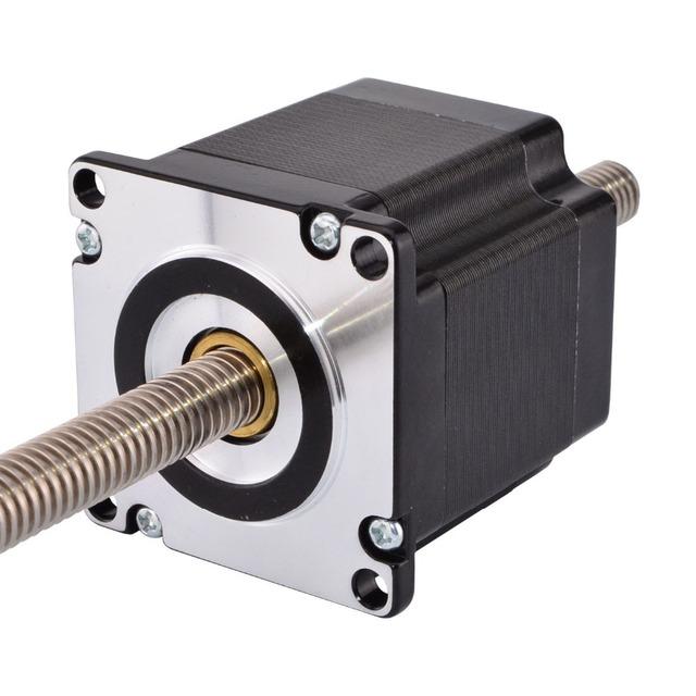 Nema 23 Non-captive Linear Stepper Motor 4-lead 56mm Stack 2A Lead 2mm/0.07874″ Lead Screw Length 300mm
