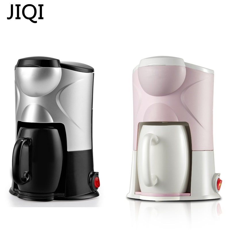 JIQI Coffee Maker Drip Type Machine Semi-automatic Cafe Americano Espresso Cafe Household Cappuccino Latte Maker 220V 300W drip type coffee maker machine stainless steel home fully automatic mini coffee making professional cappuccino latte 220v 550w