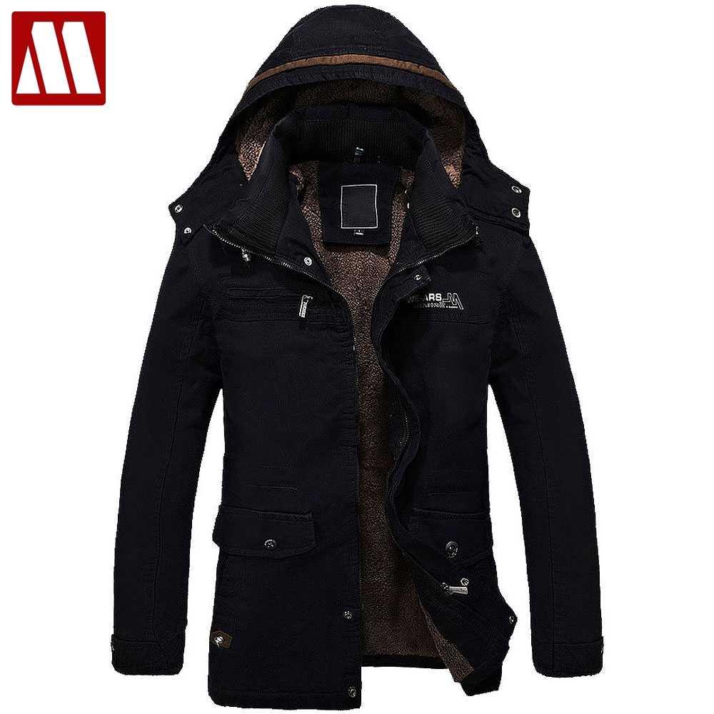 Мужская куртка с меховой подкладкой, толстая длинная теплая зимняя куртка с  капюшоном, пальто, 77d927bf068