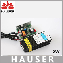 Бесплатная Доставка 2 Вт лазер высокой мощности 450nm Голубой лазерной головки модуль co2 лазерная гравировка TTL красный 2000 МВт лазерная головка DIY ЧПУ